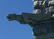 Photo of a gargoyle. Link to Life Stage Gift Planner Over Age 70 Situations.